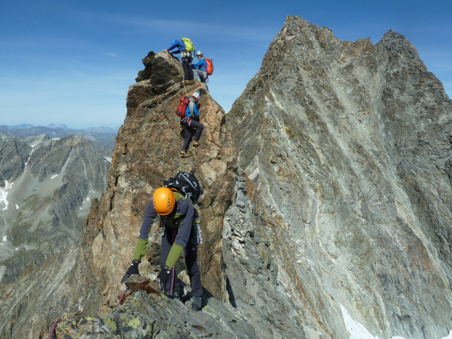 Great intermediate climbing with Frost Guiding