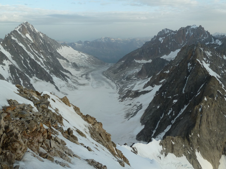 Fine views to the Argentiere basin